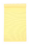 Yellow notepaper Royalty Free Stock Photos