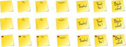 Yellow Notes Royalty Free Stock Photography