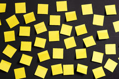 Yellow notes Royalty Free Stock Photos