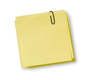 Yellow notes stock photography