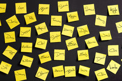 Yellow notes Royalty Free Stock Photo