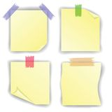 Yellow notice papers Royalty Free Stock Image