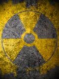 Yellow nuclear warning symbol Royalty Free Stock Photos