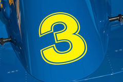 Yellow number 3 Royalty Free Stock Images