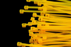 Yellow Nylon Cable Ties Stock Photo