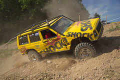 Yellow off-road Royalty Free Stock Photography