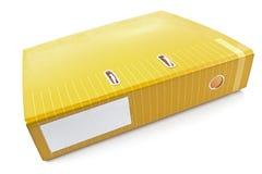 Yellow office folder Royalty Free Stock Image