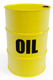 Yellow oil barrel Stock Photos
