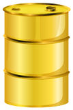 A yellow oil barrel. Illustration of a yellow oil barrel on a white background stock illustration