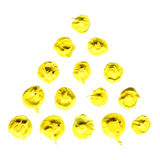 Yellow oil blots pyramid Royalty Free Stock Photography