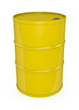 Yellow oil drum. Yellow oil barrel. High quality 3D rendered image Stock Photo