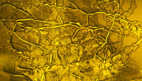 Yellow oil paint mixed flows Royalty Free Stock Photography