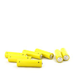 Yellow old batteries Royalty Free Stock Photography