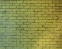 Yellow old brick wall Texture pattern Royalty Free Stock Photo