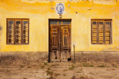Yellow Old Facade Stock Image