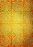 Yellow old paper with pattern Stock Photo