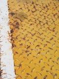 Yellow old rustic metal texture Stock Photos