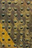 Yellow old wooden door. Yellow ancient wooden door  texture background Royalty Free Stock Image