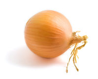 Yellow onion bulb. Isolated on a white background Royalty Free Stock Photography