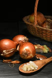 Yellow Onion Still Life Stock Photo