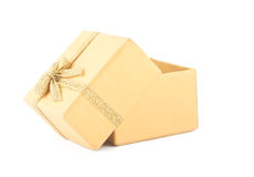 Yellow opened box Royalty Free Stock Image