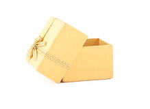 Yellow opened box Royalty Free Stock Images