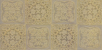 Yellow openwork lace background Royalty Free Stock Image