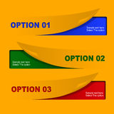 Yellow Option Banners Royalty Free Stock Images