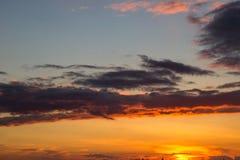Yellow-orange ηλιοβασίλεμα Στοκ Εικόνες