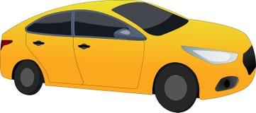 Yellow-orange σπορ αυτοκίνητο ελεύθερη απεικόνιση δικαιώματος