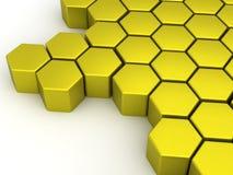 Yellow-Orange шестиугольники Стоковое Фото