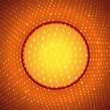 Yellow Orange Abstract Binary Background Stock Photo