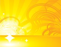 Yellow orange abstract ray background 1 Stock Photography