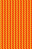A yellow and orange angular pattern. Angling and diagonal, this sharp pattern is made up of gradient filled rectangle, making a surface or material Stock Images