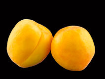 Yellow-orange apricots, close up Royalty Free Stock Photography