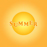 Yellow-orange background with circles. Summer, Yellow-orange background with circles. Vector Vector Illustration