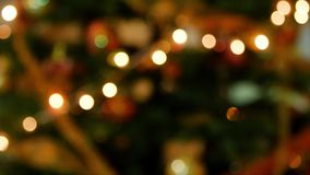 Yellow orange bokeh effect. Bokeh lights against a black background stock video