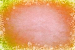 Yellow and Orange Bokeh Frame Background. For Slide Slow Presentations royalty free illustration