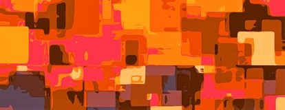 Yellow orange brown pink painting abstract Stock Photography