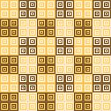 Yellow orange and brown square cube pattern background. Wallpaper Stock Photography