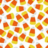 Yellow and Orange Candy Corn Square Seamless Vector Illustration 1 Royalty Free Stock Image