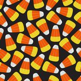 Yellow and Orange Candy Corn Square Seamless Vector Illustration 2 Royalty Free Stock Photography