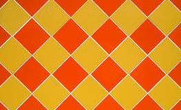 Yellow and Orange ceramic tiles Stock Photo