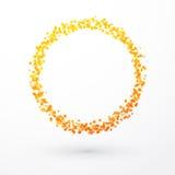 Yellow orange circle of dots Stock Image
