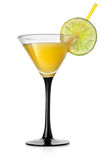 Yellow orange cocktail Royalty Free Stock Image