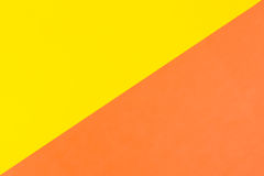 Yellow and orange color paper background Stock Photography