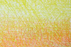 Yellow and orange  crayon drawings on white background texture Stock Images