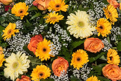 Yellow and orange flower bouquet Stock Photography