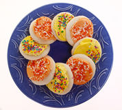 Yellow and Orange Frosted Sugar Cookies Royalty Free Stock Image