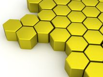 Yellow-Orange Hexagons Stock Photo